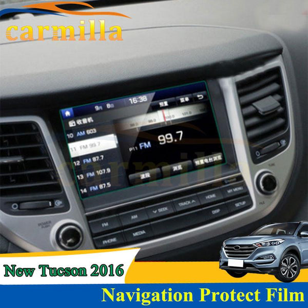 Navigation Protection Film NAVI Cover Sticker For Hyundai For Tucson 2015 Navigation Stickers For Hyundai Tucson 2016