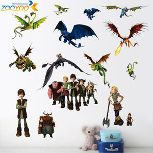 how to train your dragon 2 stickers zooyoo1427 3d movie wall decals boys room decorations kids room wall arts