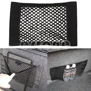 Kris 1Pc Auto Car Rear Trunk Back Seat Elastic String Net Mesh Storage Bag Pocket Cage 40*25cm