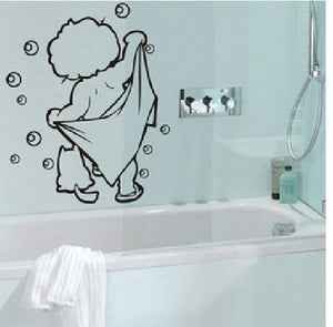 lOVELY baby love shower Bathroom Bubble Wall Stickers Glass Door Stickers Cute Children Shower Decals Poster