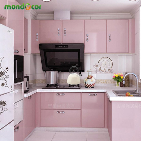 Modern Vinyl DIY Decorative Film PVC Self adhesive Wall paper Furniture Renovation Stickers Kitchen Cabinet Waterproof Wallpaper