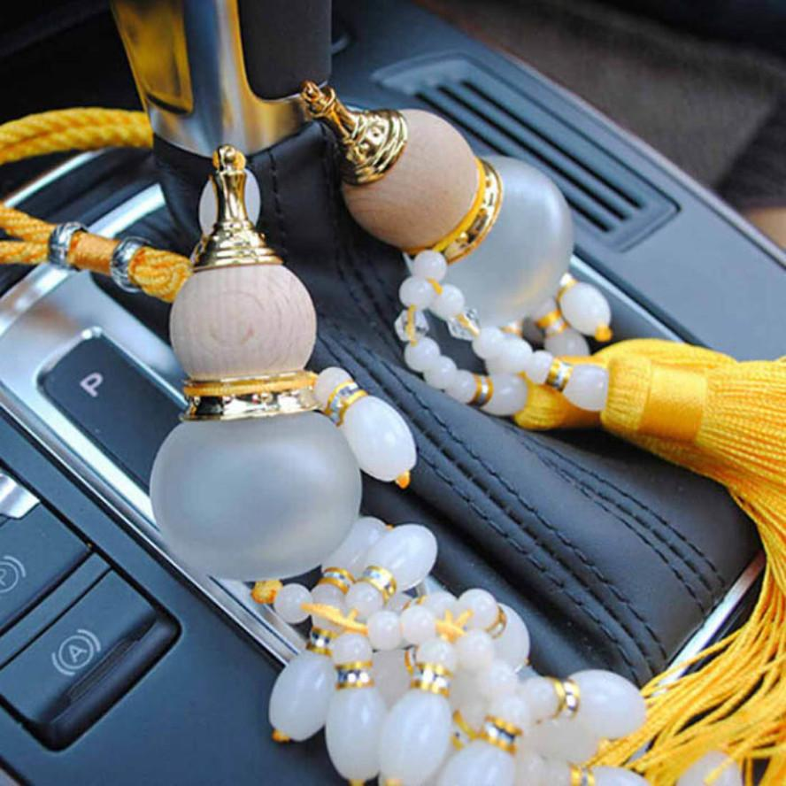 Car Ornaments Gourd Crystal Perfume Bottle Car Pendant Crystal Car Accessories