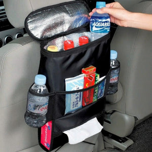 Insulation Work Style Auto Car Seat Organizer Sundries Holder Multi-Pocket Travel Storage Bag Hanger Backseat Organizing Box