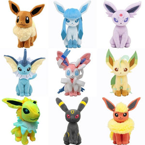 "Pikachu Plush Toys 7"" Sitting Umbreon Eevee Espeon Jolteon Vaporeon Flareon Glaceon Leafeon Plush Doll Kids Toys For Children"