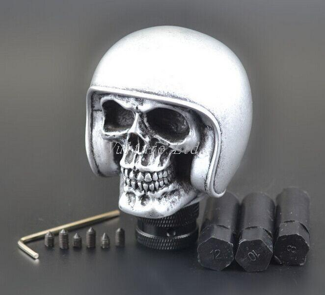 Silver Skull Universal Car Truck Manual Gear Stick Shift Lever Knob Shifter
