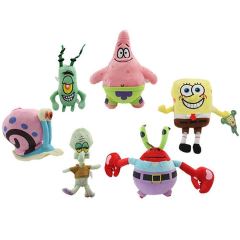 SpongeBob plush toys SpongeBob Patrick Star Squidward Tentacles Eugene Sheldon Gary soft stuffed dolls lovely toys