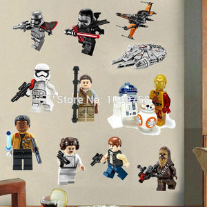 Star Wars Lego Movie Posters Wall Stickers Decals Art for Baby Nursery Kid Room Home Decoration WallPaper Cartoon