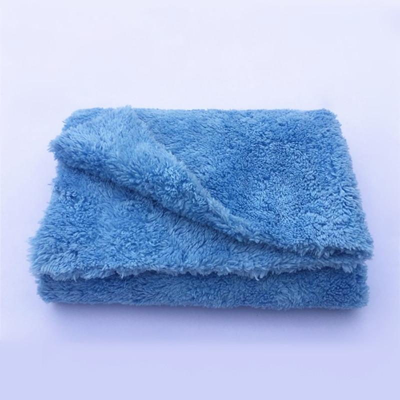 "Ultra Thick-450GSM Edgeless Microfiber Cloth 16""X16"" No Edge Premium Detailing Towel For Polishing Buffing Finishes Car Wash"