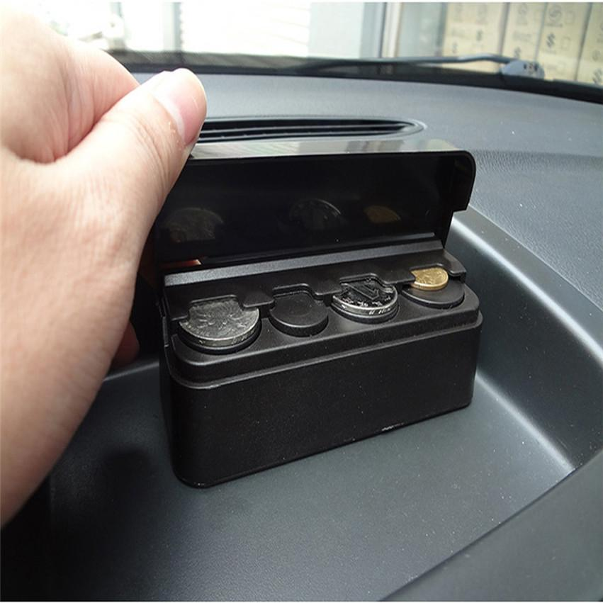 Vehicle Car-styling Car Coin Case Loose change Storage Box Money Wallet Piggy Bank Holder Organizer