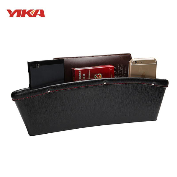 YIKA 4 Colors 2 Pcs lot Multifunction PU Leather Storage Box Car Storage Organizer Seat Gap Stowing Tidying Organizer