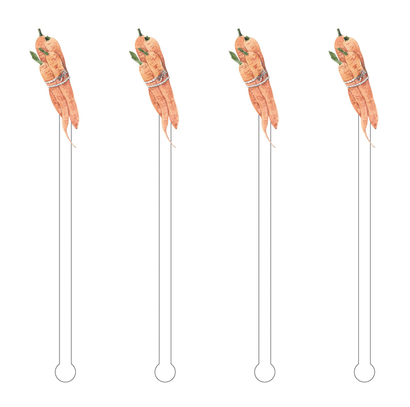 BUNDLE OF CARROTS ACRYLIC STIR STICKS