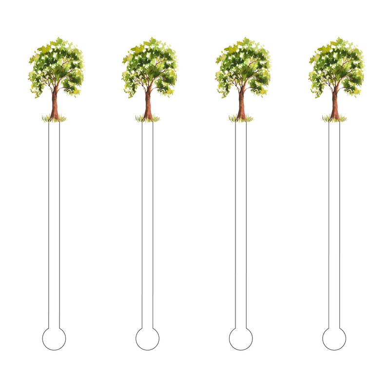 OAK TREE ACRYLIC STIR STICKS
