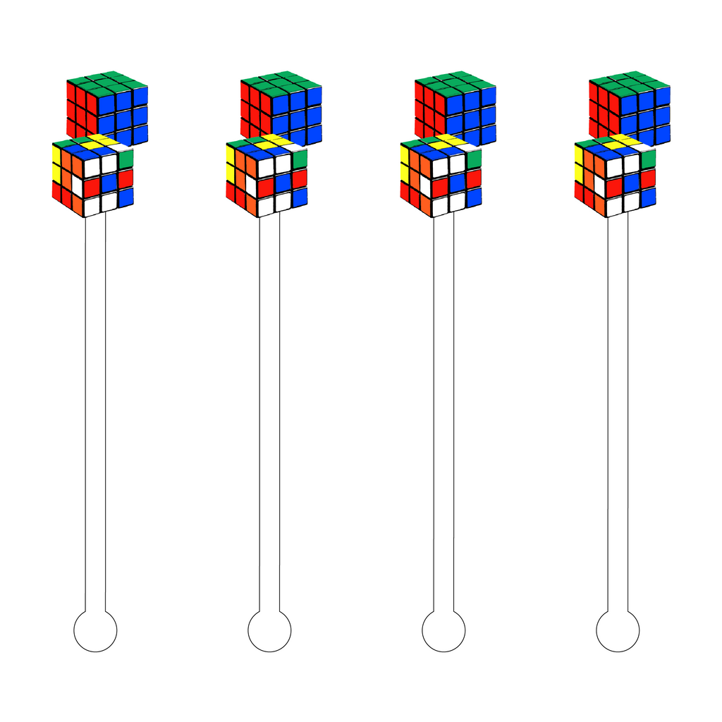 RUBIK'S CUBE ACRYLIC STIR STICKS