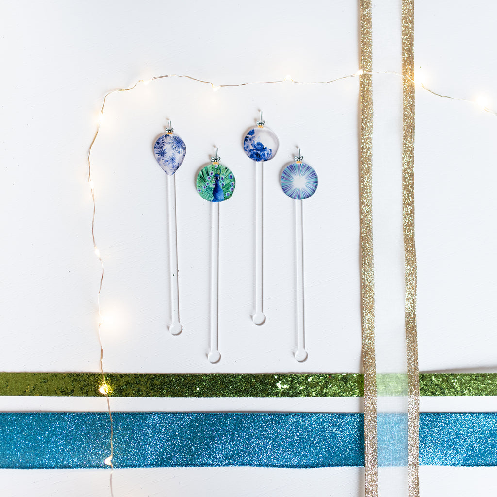 ORNAMENTS ACRYLIC STIR STICKS COMBO
