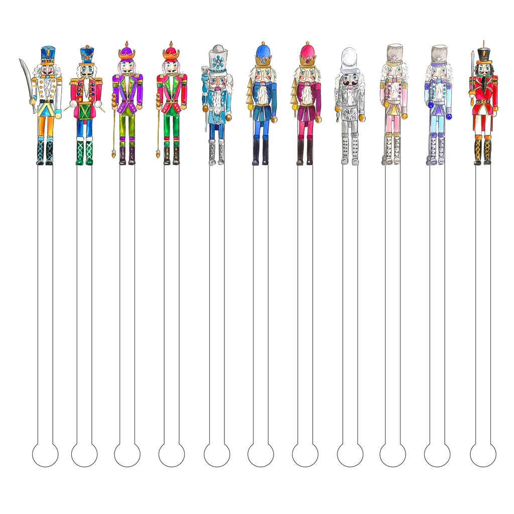 NUTCRACKER 11 PACK ACRYLIC STIR STICKS