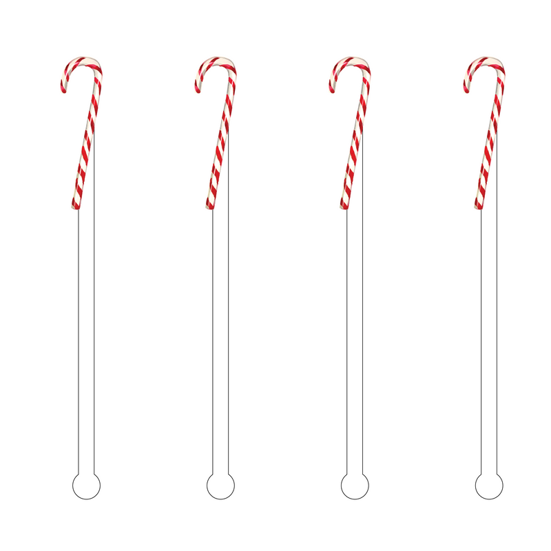 CANDY CANE ACRYLIC STIR STICKS