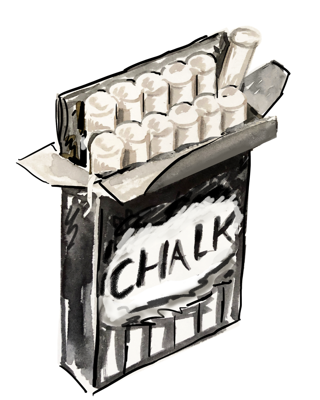 BOX OF CHALK ACRYLIC STIR STICKS