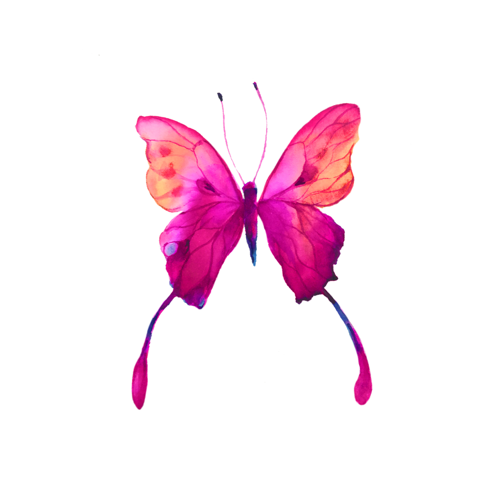 PINK EMILY BUTTERFLY DOWNLOADABLE ART