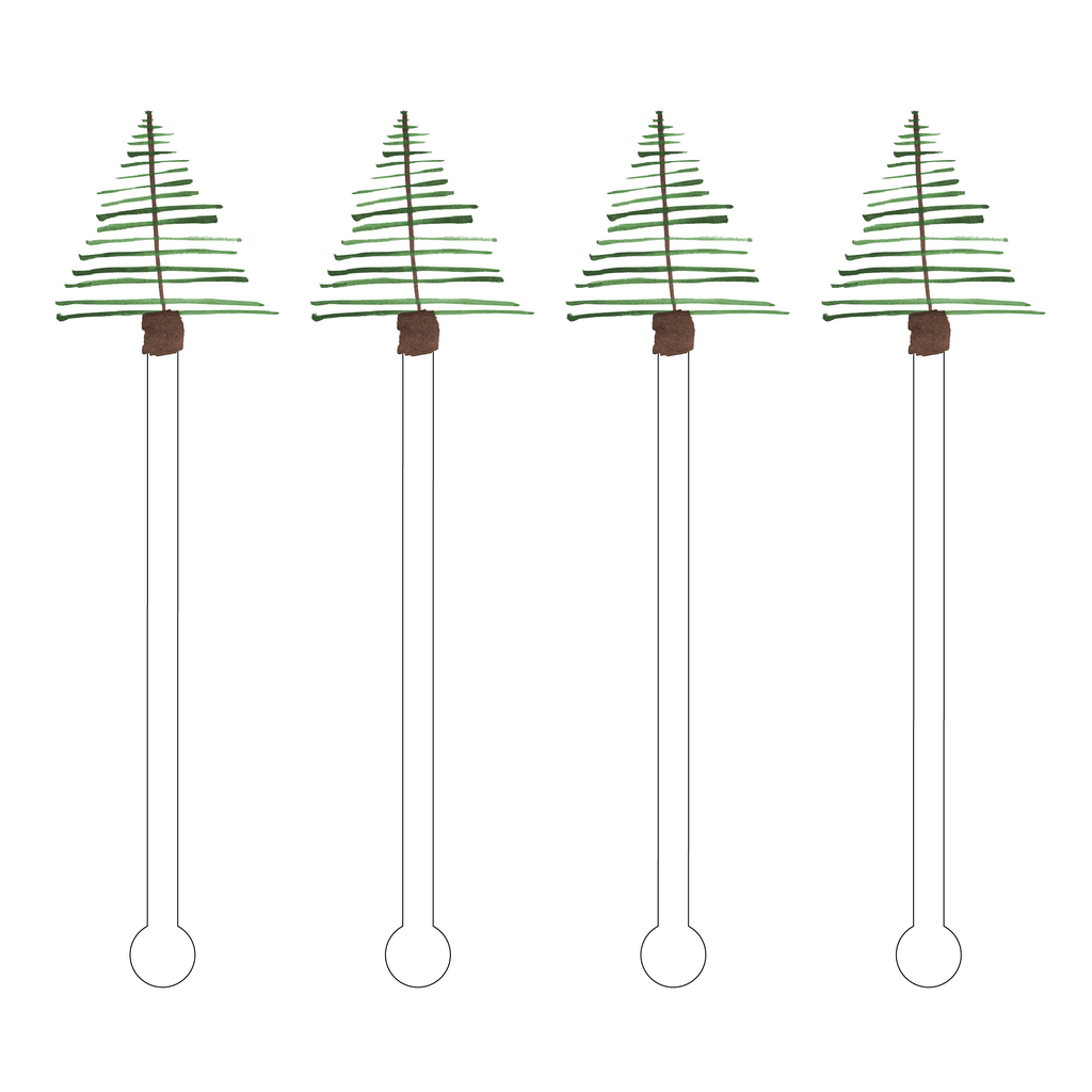 WHITE FIR ACRYLIC STIR STICKS