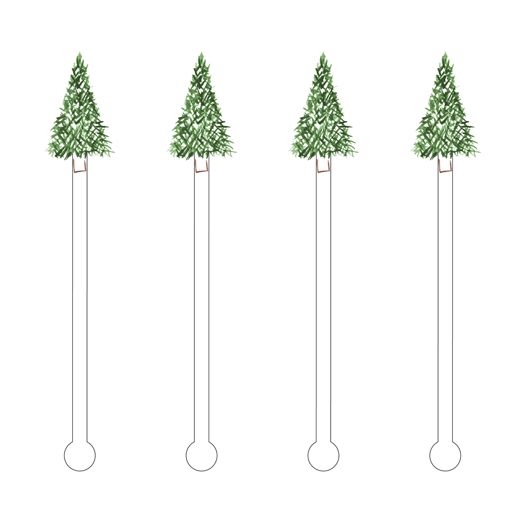 FRASER FIR ACRYLIC STIR STICKS