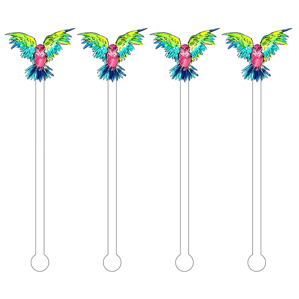 FLYING OWL ACRYLIC STIR STICKS