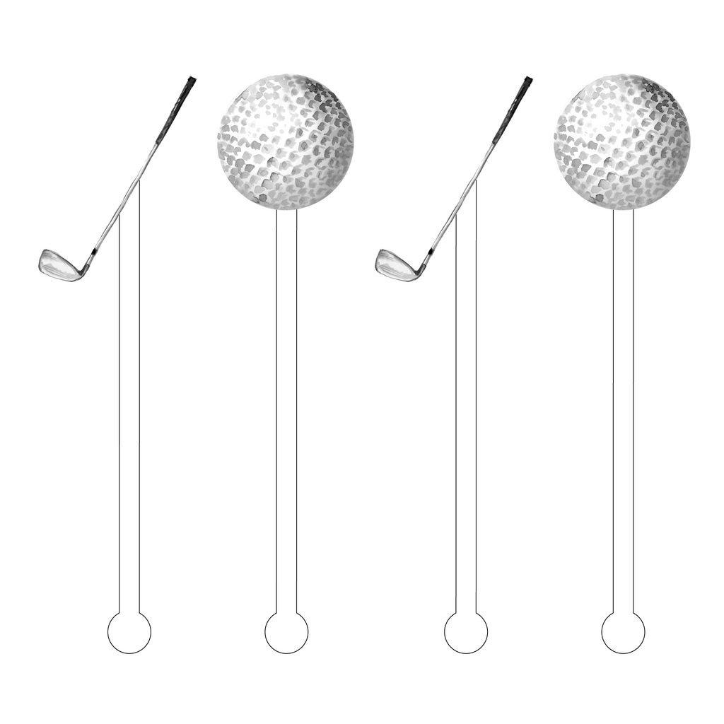 LET'S GOLF ACRYLIC STIR STICKS COMBO
