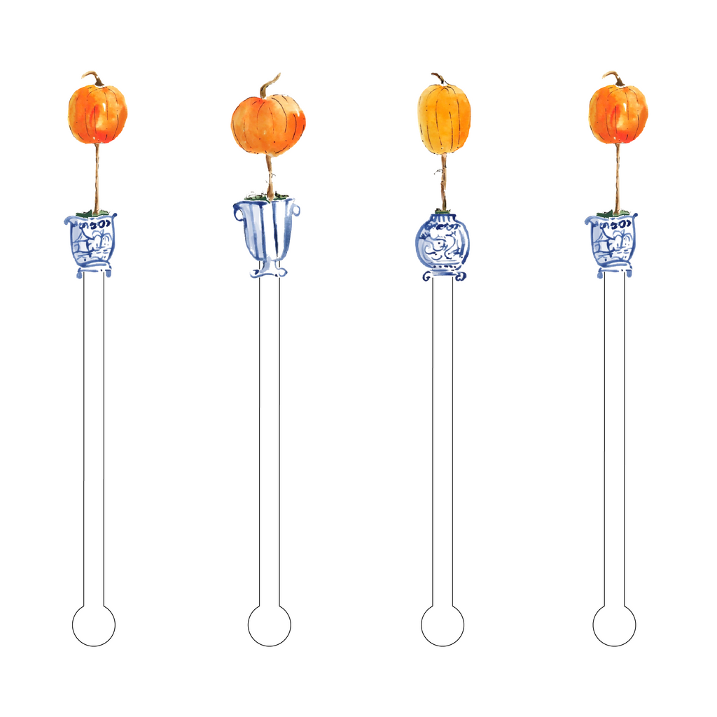 GIDDY GOURD TOPIARIES ACRYLIC STIR STICKS COMBO