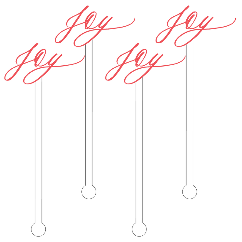 RED JOY ACRYLIC STIR STICKS