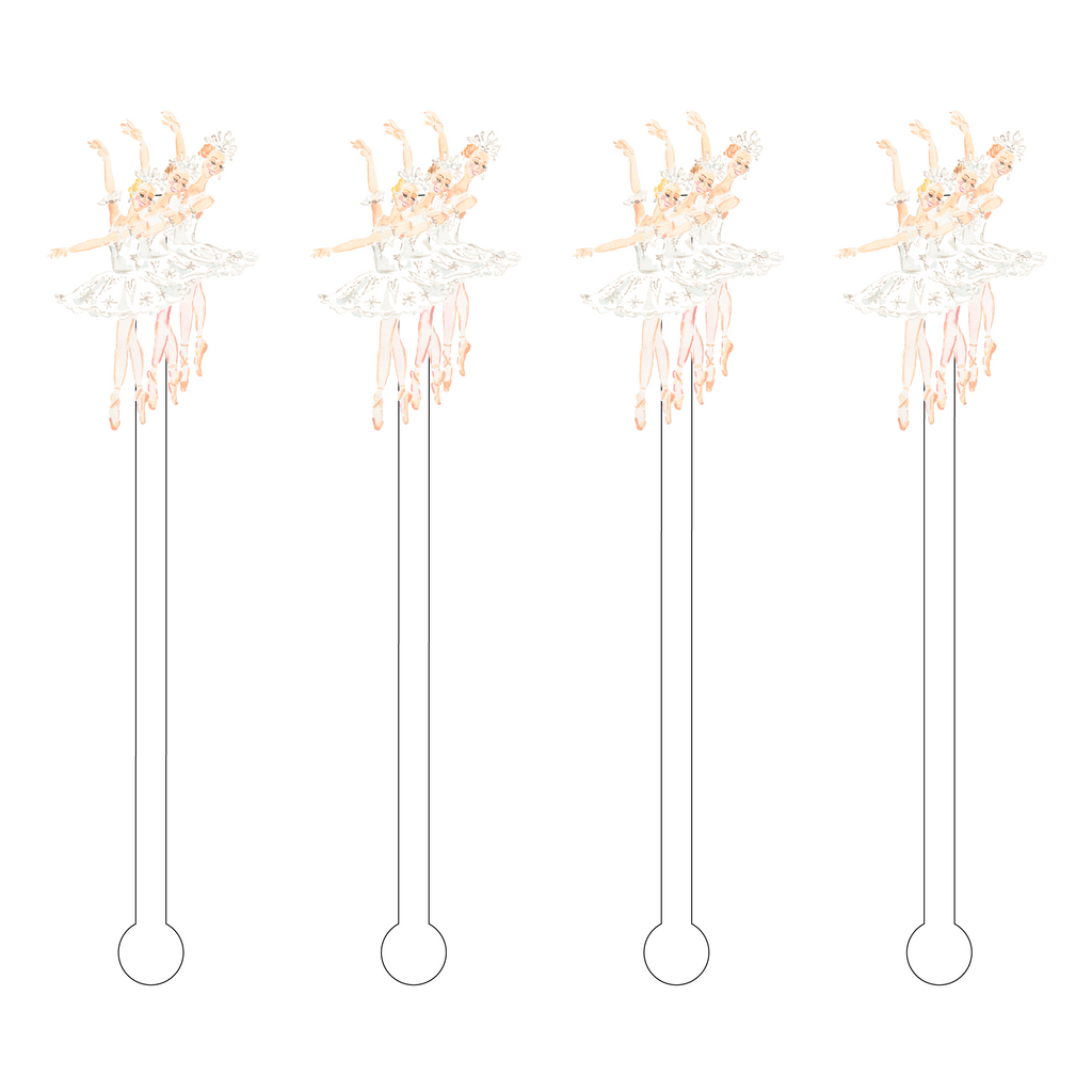 BALLET SUGARPLUM FAIRIES ACRYLIC STIR STICKS