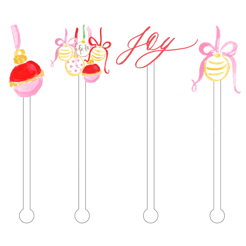 JOYFUL ORNAMENTS ACRYLIC STIR STICKS COMBO