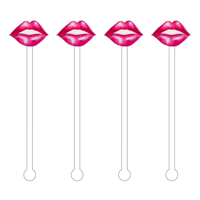 KISS ME LIPS ACRYLIC STIR STICKS