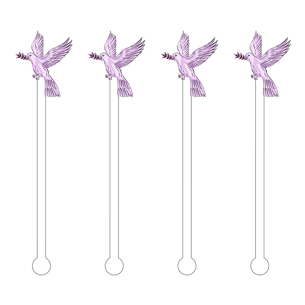 LILAC DOVE ACRYLIC STIR STICKS