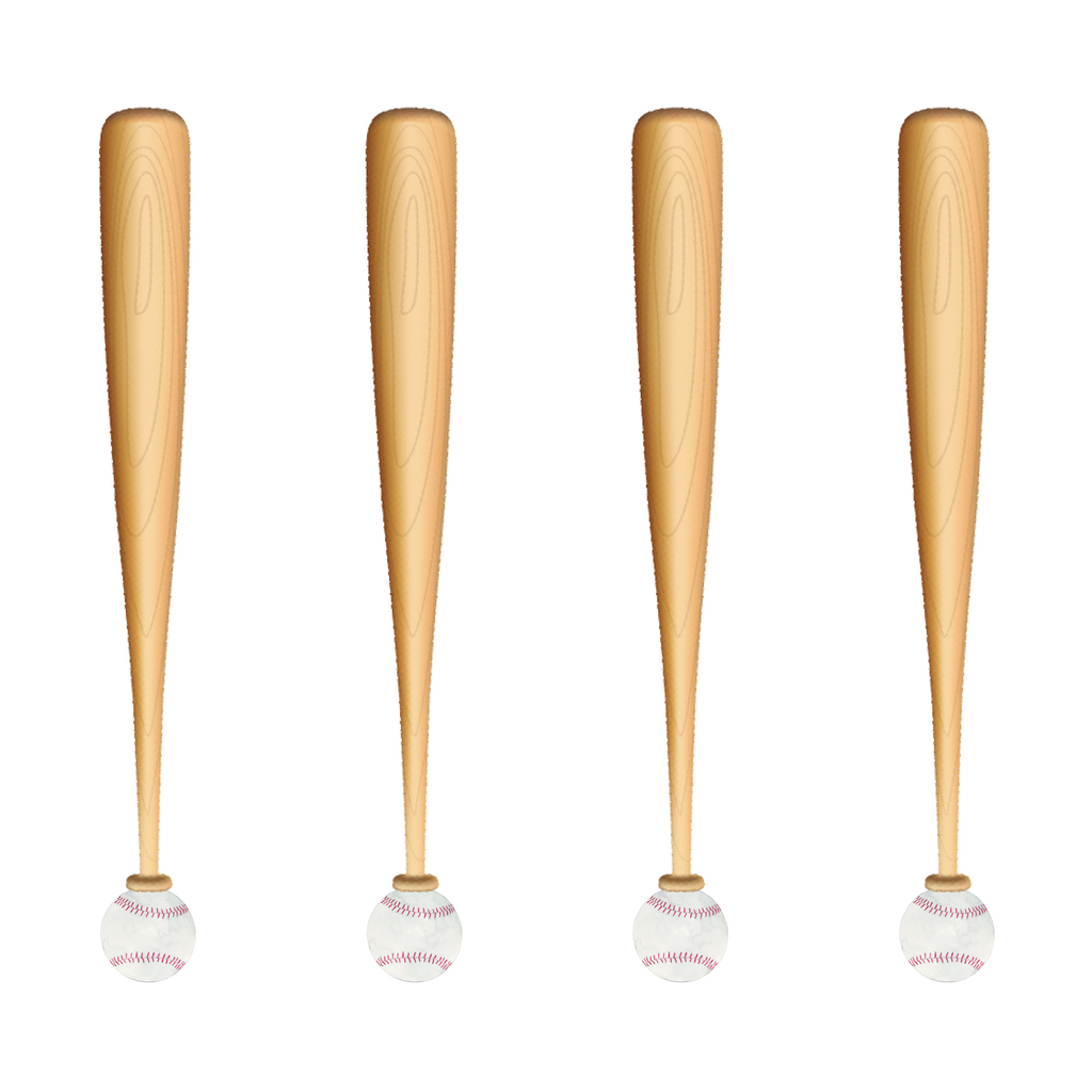 BASEBALL & BAT TOP TO BOTTOM ACRYLIC STIR STICKS