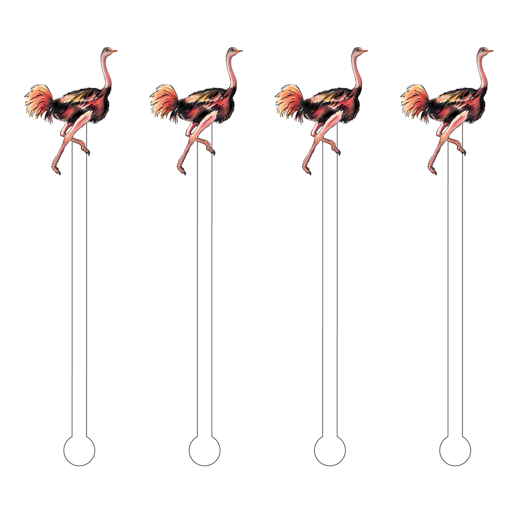 OSTRICH ACRYLIC STIR STICKS