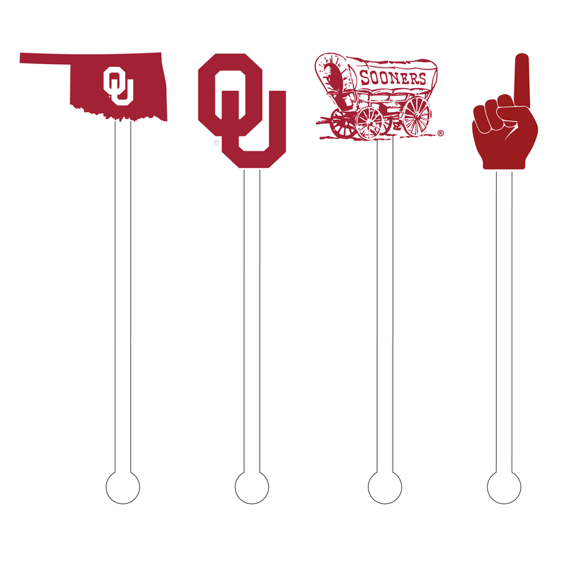 SOONERS ACRYLIC STIR STICKS COMBO