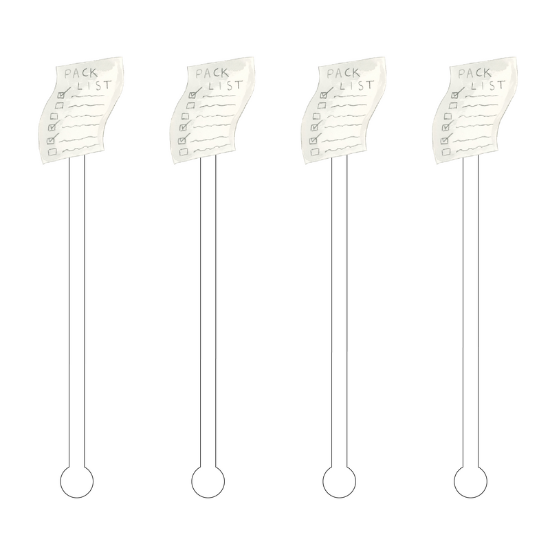 PACKING LIST ACRYLIC STIR STICKS