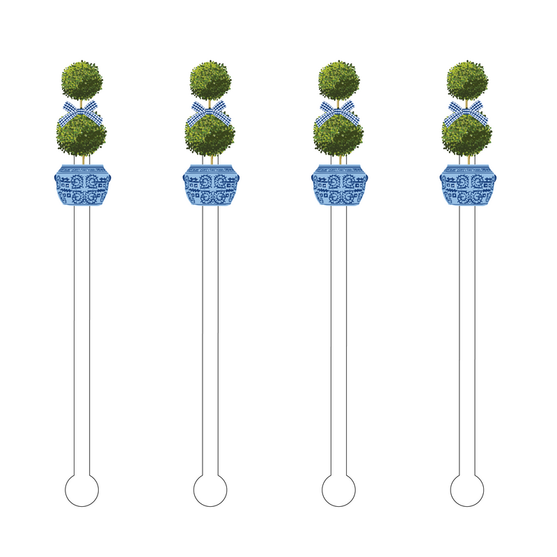 TOPIARY ACRYLIC STIR STICKS