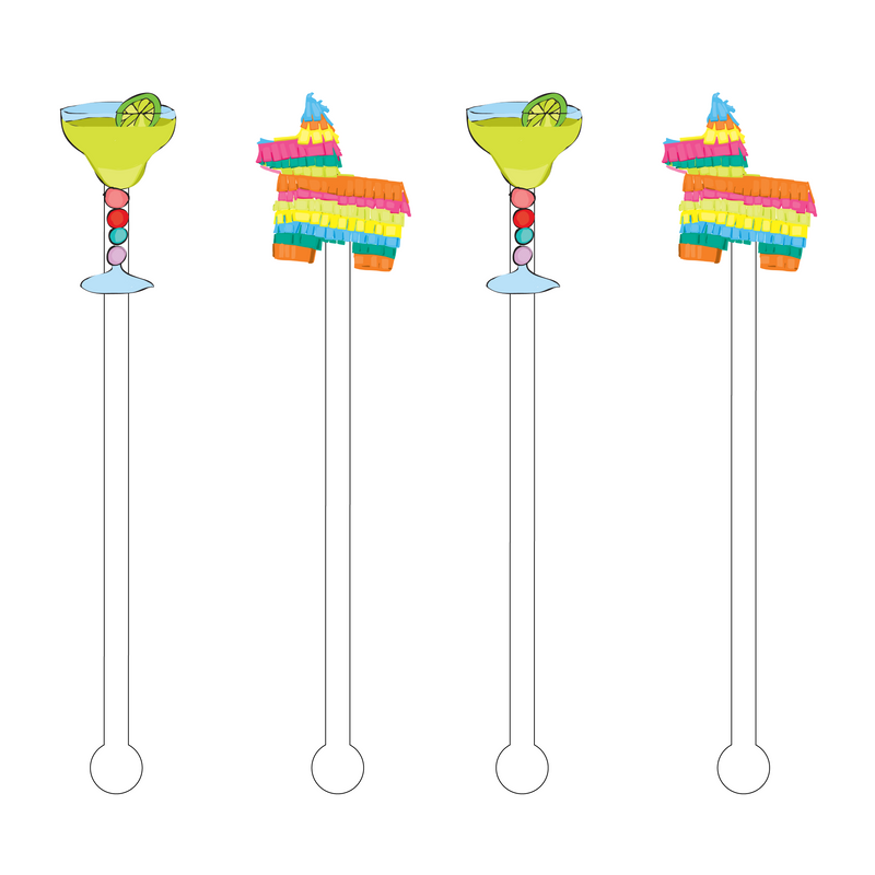 LET'S FIESTA ACRYLIC STIR STICKS COMBO