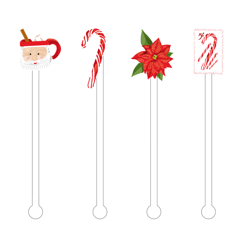 PEPPERMINT CHRISTMAS ACRYLIC STIR STICKS COMBO