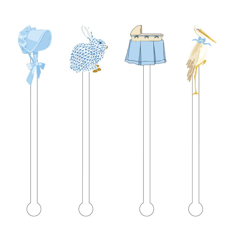 IT'S A BOY! ACRYLIC STIR STICKS COMBO
