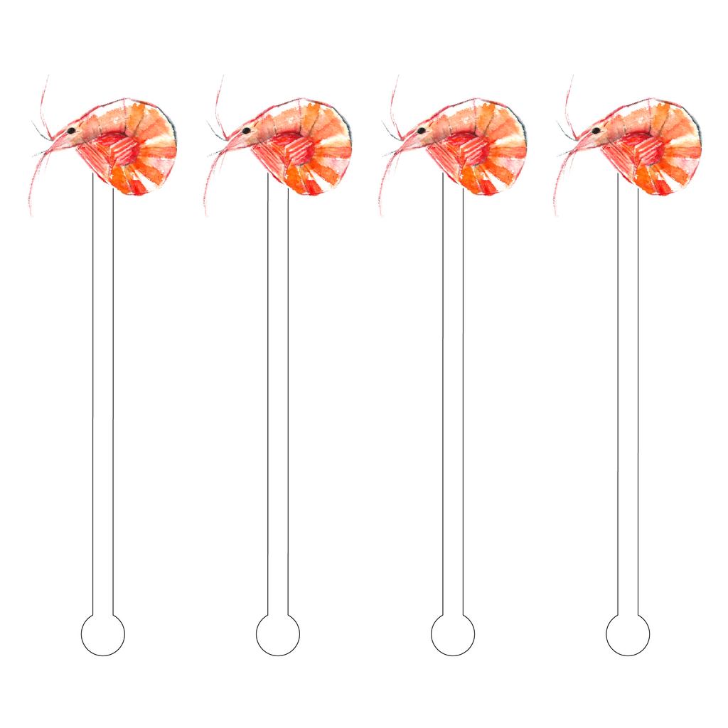 SHRIMP ACRYLIC STIR STICKS