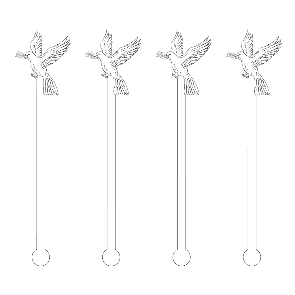 SKETCH DOVE ACRYLIC STIR STICKS