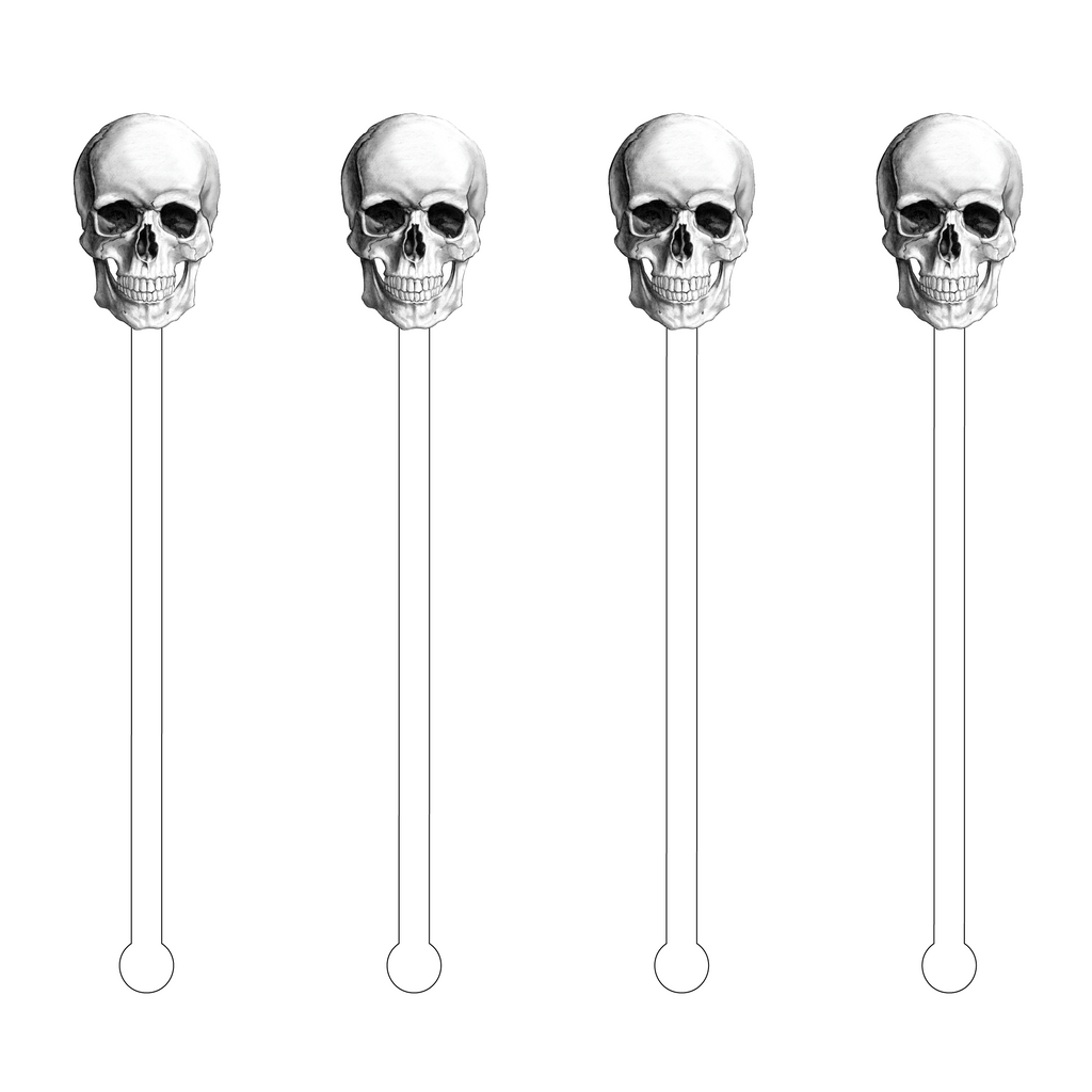 SKULL ACRYLIC STIR STICKS
