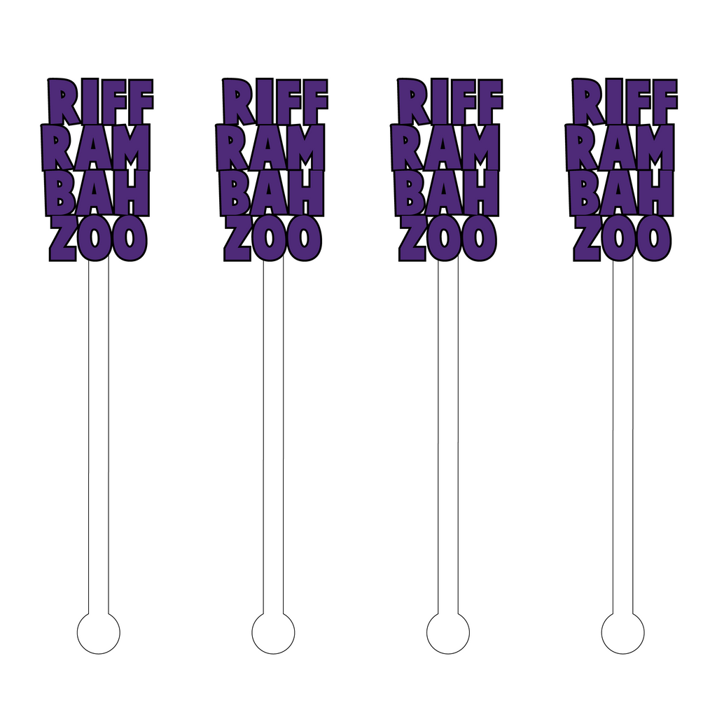 RIFF RAM BAH ZOO ACRYLIC STIR STICKS