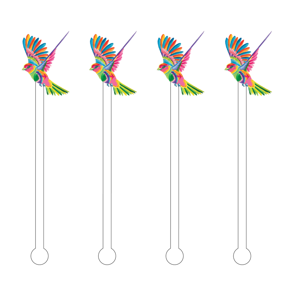 EXOTIC FLYING BIRD ACRYLIC STIR STICKS