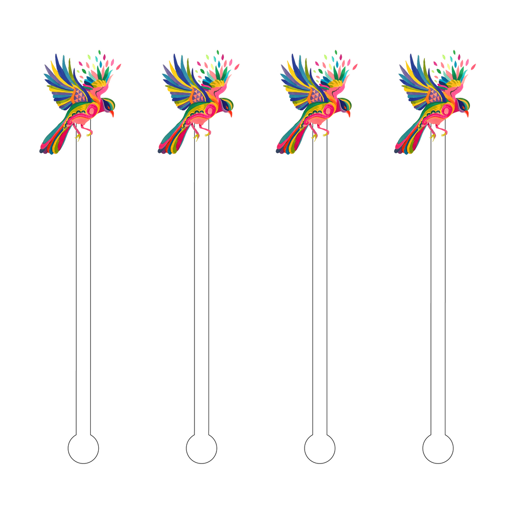 BIRD OF PARADISE ACRYLIC STIR STICKS