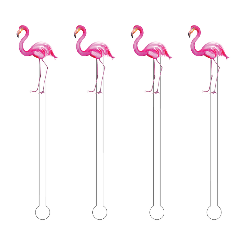 FLAMINGO ACRYLIC STIR STICKS