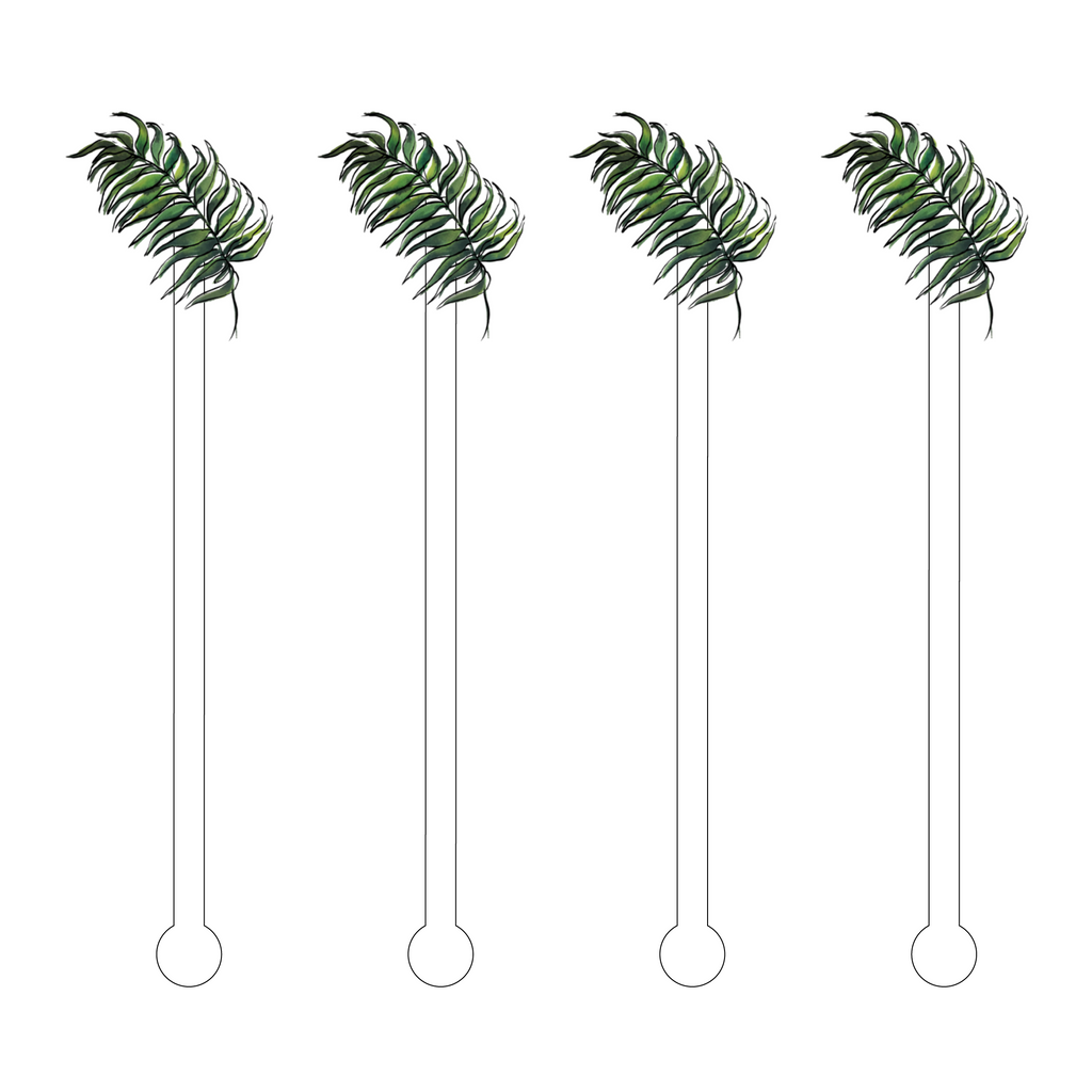 FERN FROND ACRYLIC STIR STICKS