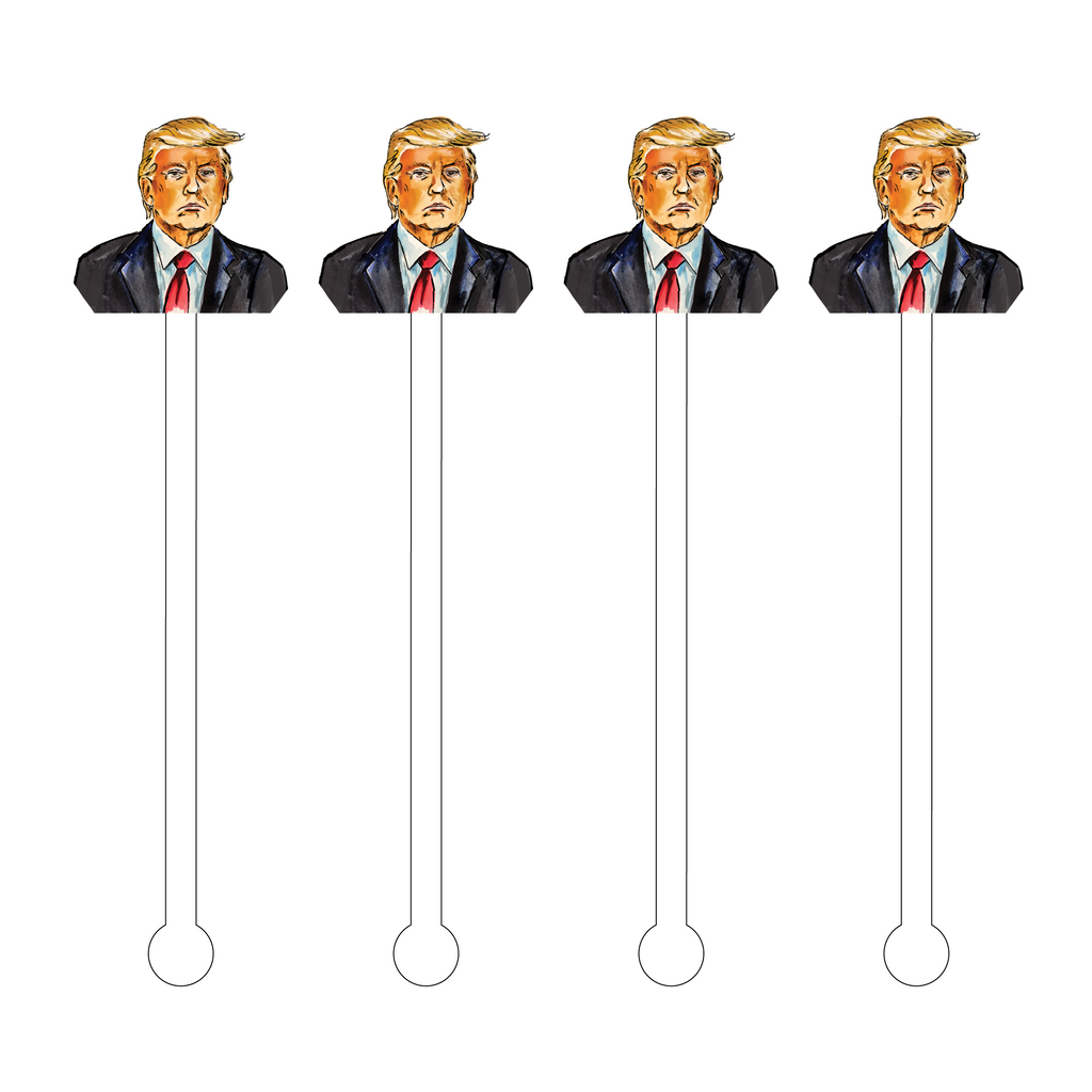TRUMP ACRYLIC STIR STICKS
