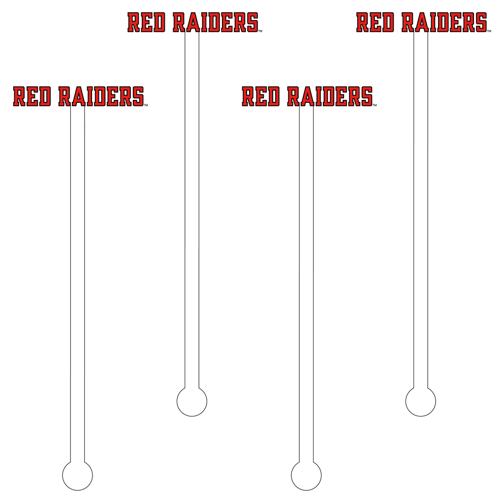 RED RAIDERS TEXT ACRYLIC STIR STICKS